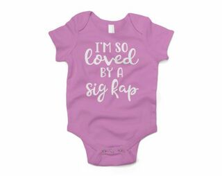 Sigma Kappa I'm So Loved Baby Outfit Onesie