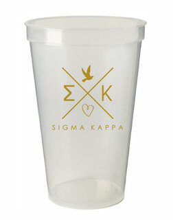 Sigma Kappa Infinity Giant Plastic Cup