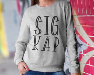 Sigma Kappa Inline Sweatshirt