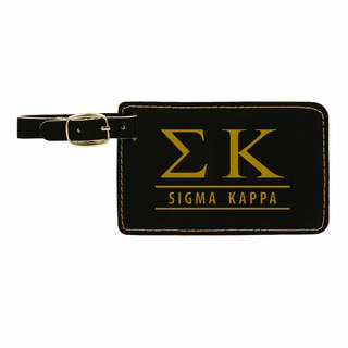 Sigma Kappa Leatherette Luggage Tag