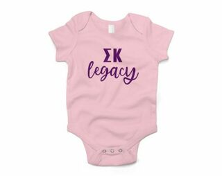 Sigma Kappa Legacy Baby Outfit Onesie