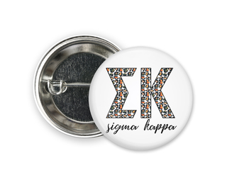 Sigma Kappa Leopard Button