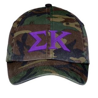 Sigma Kappa Lettered Camouflage Hat