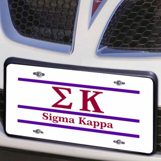 Sigma Kappa Lettered Lines License Cover