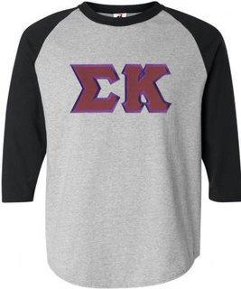 DISCOUNT-Sigma Kappa Lettered Raglan Shirt