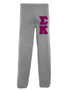 Sigma Kappa Lettered Sweatpants