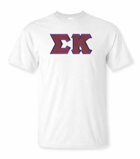 Sigma Kappa Lettered T-shirt - MADE FAST!