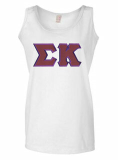 DISCOUNT-Sigma Kappa Lettered Ladies Tank Top