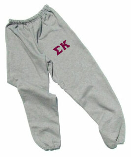 Sigma Kappa Lettered Thigh Sweatpants