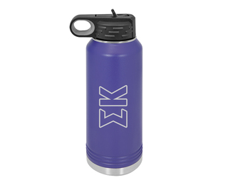 Sigma Kappa Letters Stainless Water Bottle