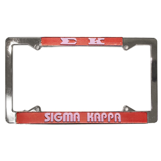 Sigma Kappa License Plate Frame