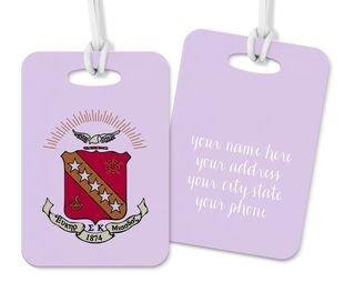 Sigma Kappa Crest - Shield Luggage Tag
