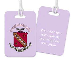 Sigma Kappa Crest - Shield Luggage Tag