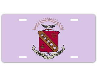 Sigma Kappa Crest - Shield License Plate