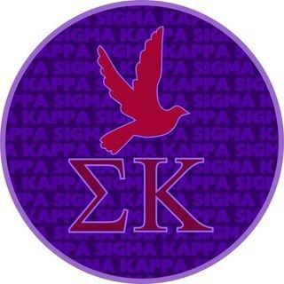 Sigma Kappa Mascot Round Decals