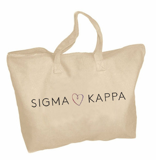 Sigma Kappa Mascot Zippered Tote Bag
