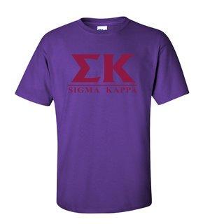 Sigma Kappa Message T-Shirts