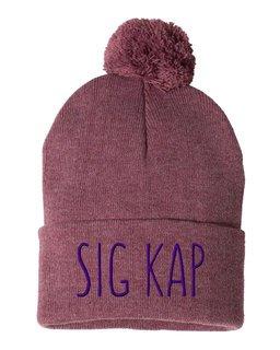 Sigma Kappa Mod Pom Pom Beanie