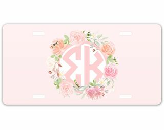 Sigma Kappa Monogram License Plate