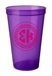 Sigma Kappa Monogrammed Giant Plastic Cup