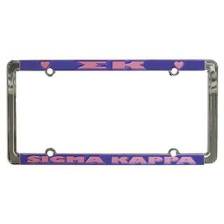 Sigma Kappa New Design License Plate Frame