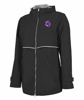 Sigma Kappa New Englander Circle Monogram Rain Coat