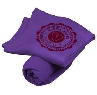 Sigma Kappa Old School Seal Sweatshirt Blanket