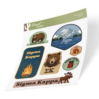Sigma Kappa Outdoor Sticker Sheet