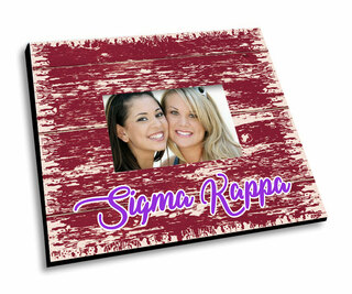 Sigma Kappa Painted Fence Picture Frame