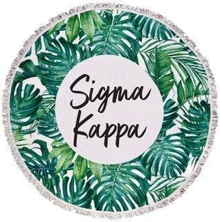 Sigma Kappa Palm Leaf Fringe Towel Blanket