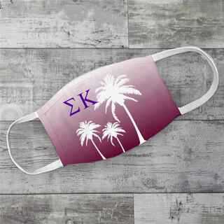 Sigma Kappa Palm Trees Face Mask