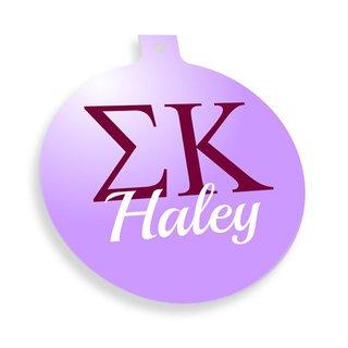 Sigma Kappa Personalized Christmas Ornaments