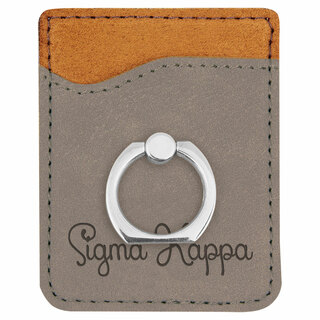 Sigma Kappa Phone Wallet with Ring