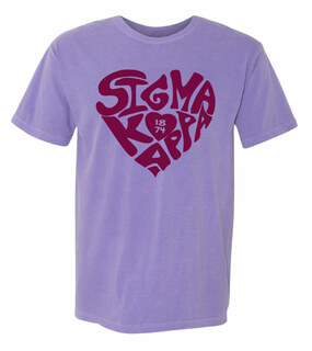 Sigma Kappa Piece of My Heart Sorority Comfort Colors T-Shirt