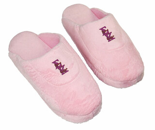 DISCOUNT-Sigma Kappa Pink Solid Letter Slipper