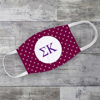 Sigma Kappa Polka Dots Face Mask