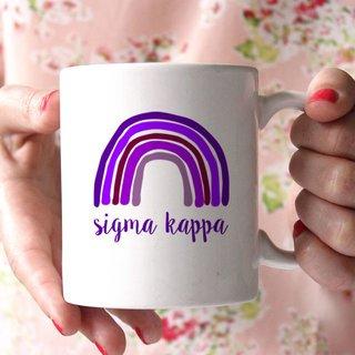Sigma Kappa Rainbow Coffee Mug