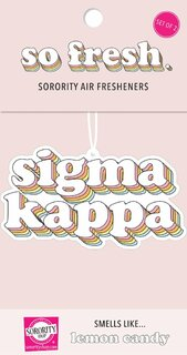 Sigma Kappa Retro Air Freshener (2 pack)