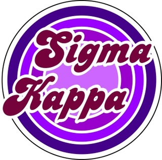 Sigma Kappa Retro Round Decals