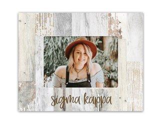 Sigma Kappa Rustic Picture Frame