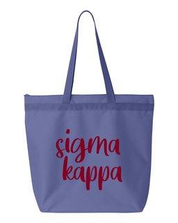 Sigma Kappa Script Tote Bag