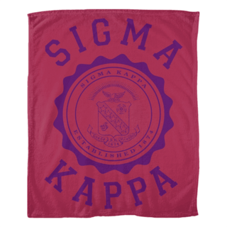 Sigma Kappa Seal Fleece Blanket
