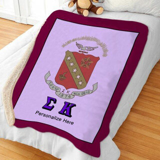 Sigma Kappa Sherpa Lap Blanket