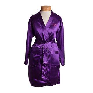 Sigma Kappa Short Satin Robe