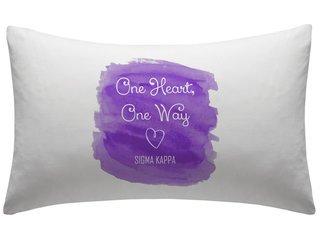 Sigma Kappa Motto Watercolor Pillowcase