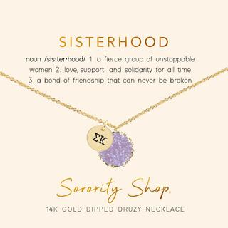 Sigma Kappa Sisterhood Druzy Necklace