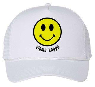 Sigma Kappa Smiley Face Trucker Hat