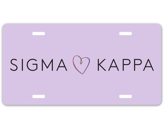 Sigma Kappa Sorority Logo License Cover