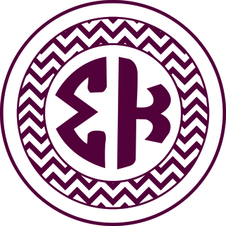 Sigma Kappa Sorority Monogram Bumper Sticker
