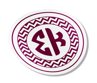 Sigma Kappa Sorority Monogram Bumper Sticker